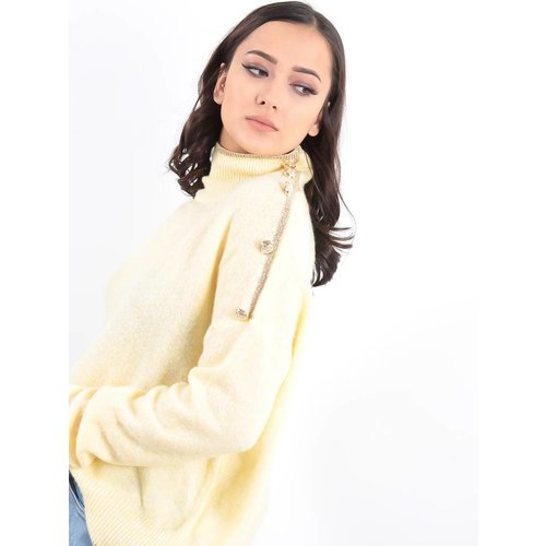 LADYLIKE FASHION Jumper high neck lemon