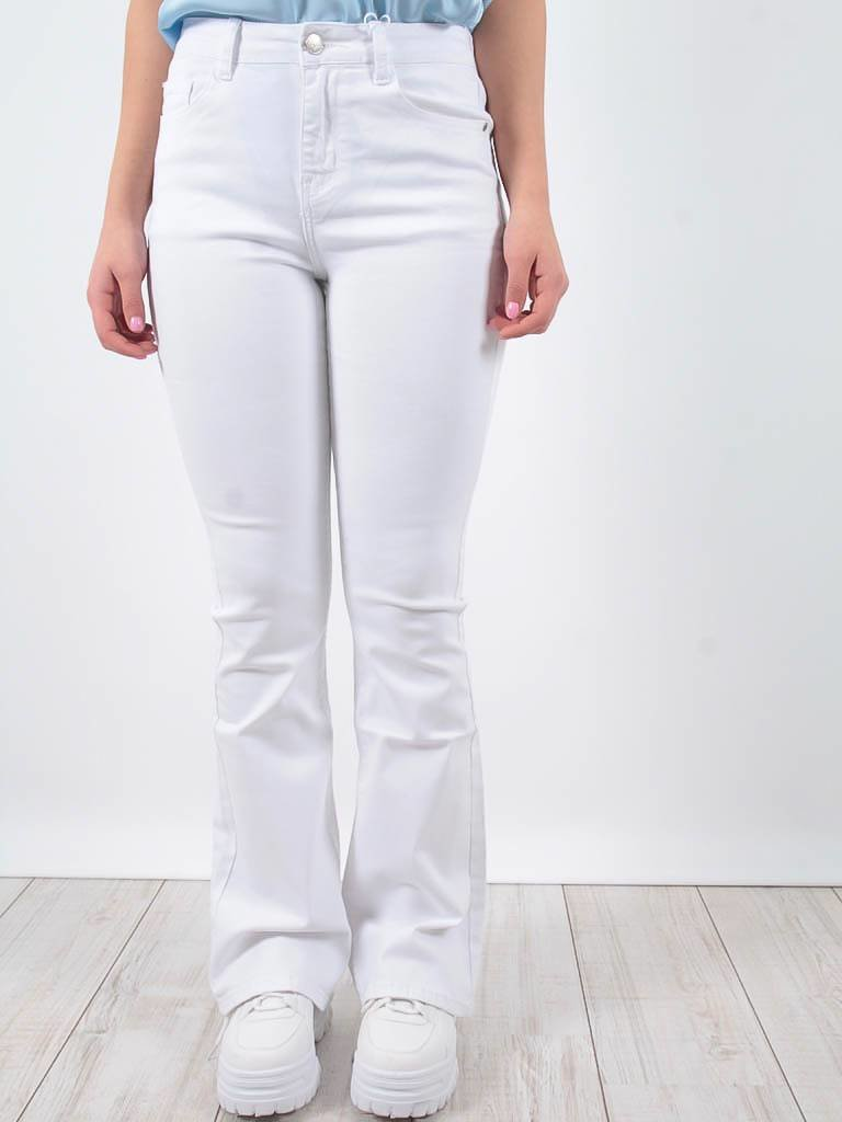 Ladylike High waist jeans stretch white