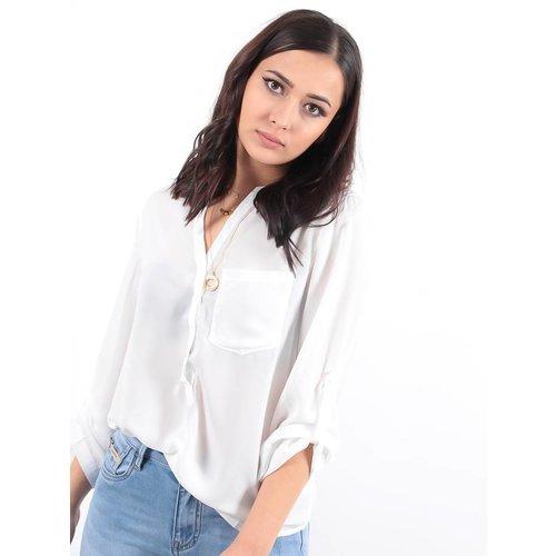 LADYLIKE FASHION Blouse V white
