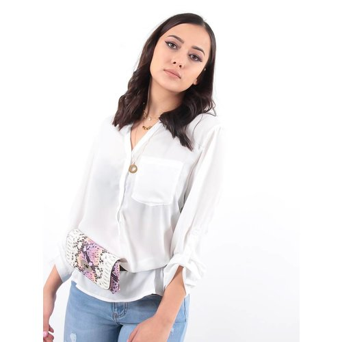 Ladylike Pink snake belt bag