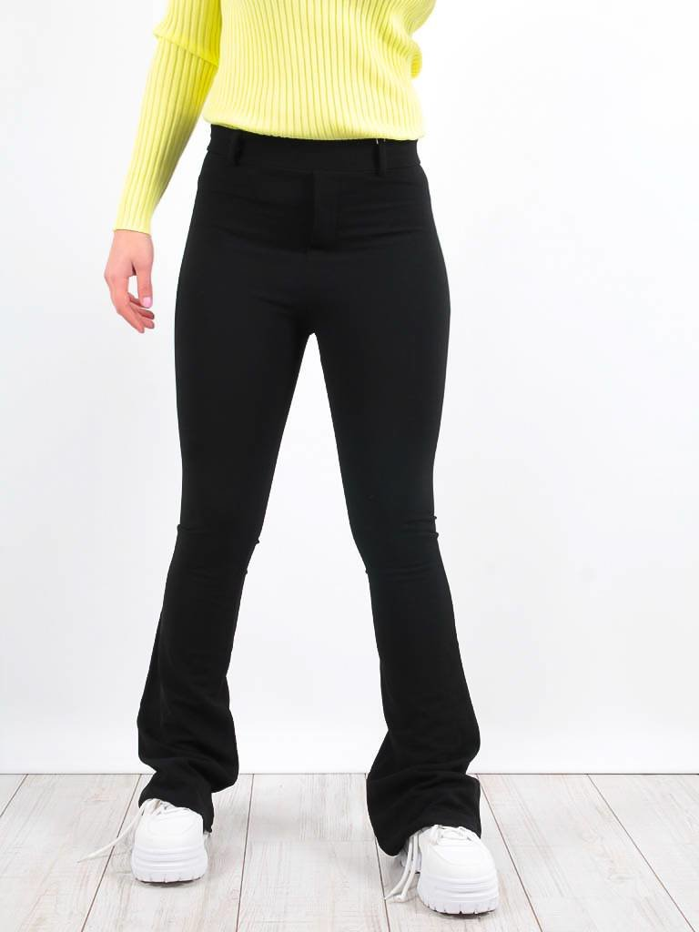 LADYLIKE FASHION High waist slim trousers black