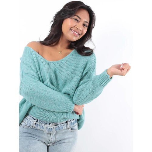 LADYLIKE FASHION V-jumper mint
