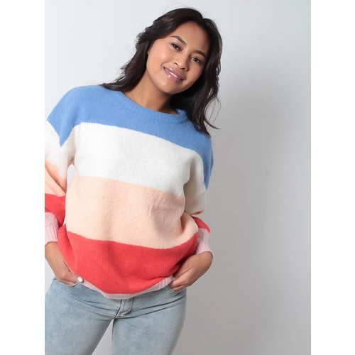 LADYLIKE FASHION Rainbow jumper orange