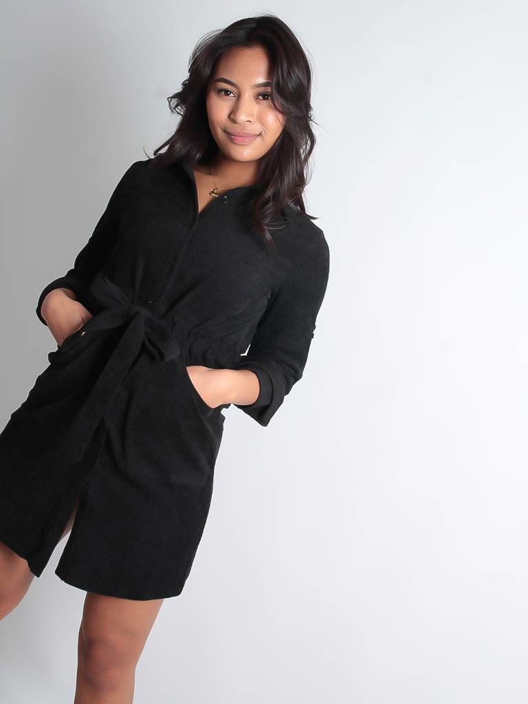 LADYLIKE FASHION Corduroy dress black