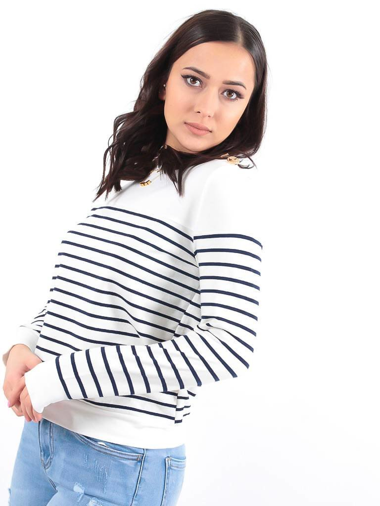 LADYLIKE FASHION Striped sweater blue