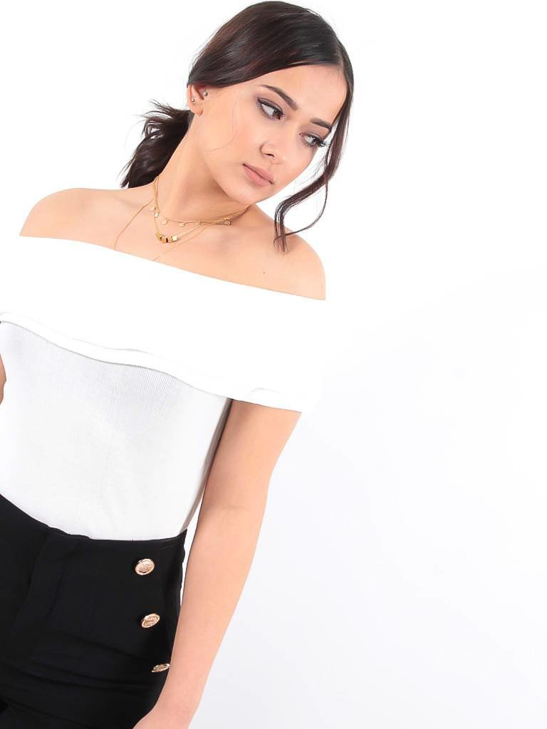 LADYLIKE FASHION Off shoulder top white