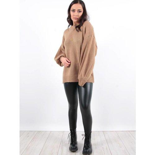 LADYLIKE FASHION Leather look trousers black