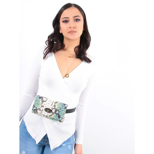 Ladylike Mint snake belt bag