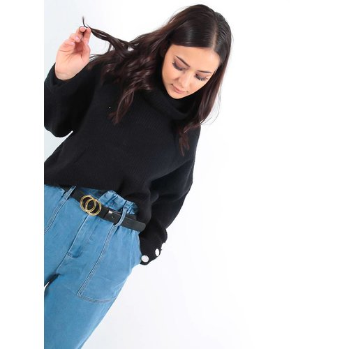 LADYLIKE FASHION Roll neck jumper black