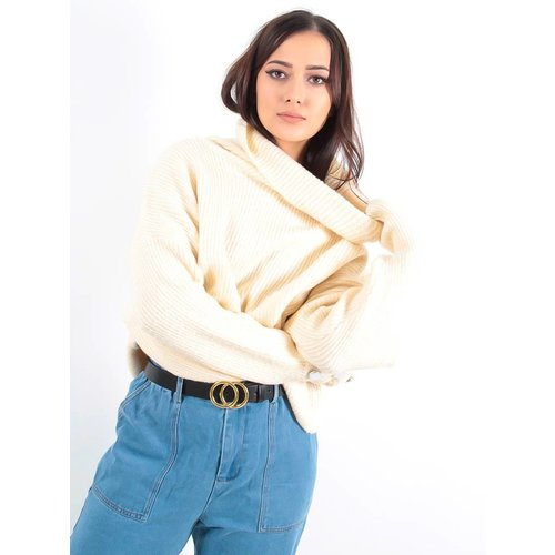 LADYLIKE FASHION Roll neck jumper beige