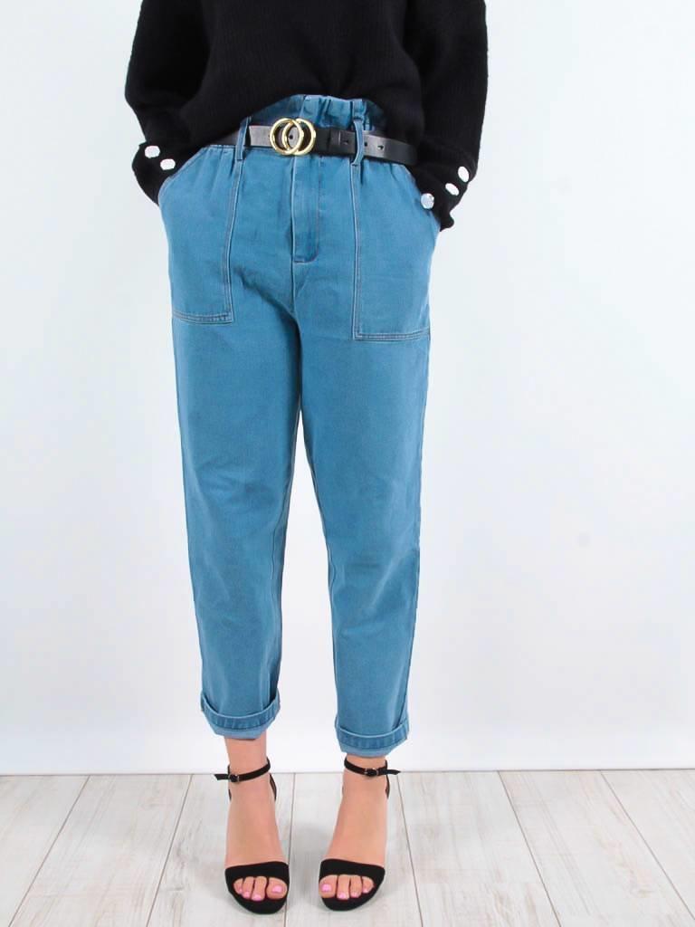 LADYLIKE FASHION High rise jeans blue
