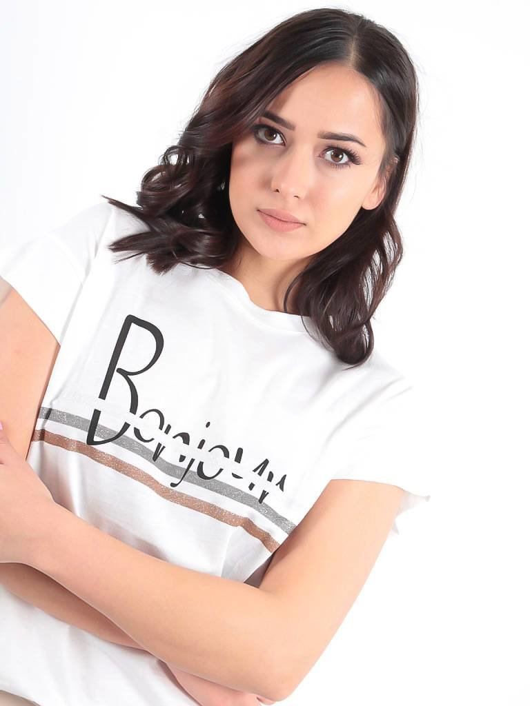 Ladylike White logo t-shirt