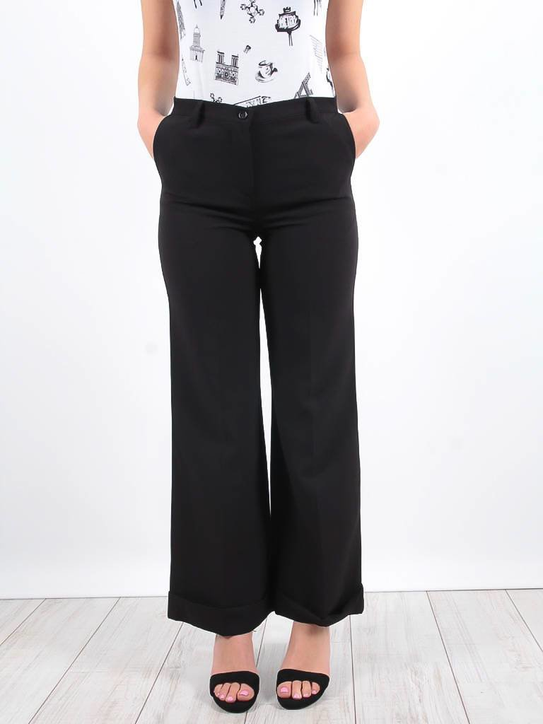 Ladylike Black flared trousers