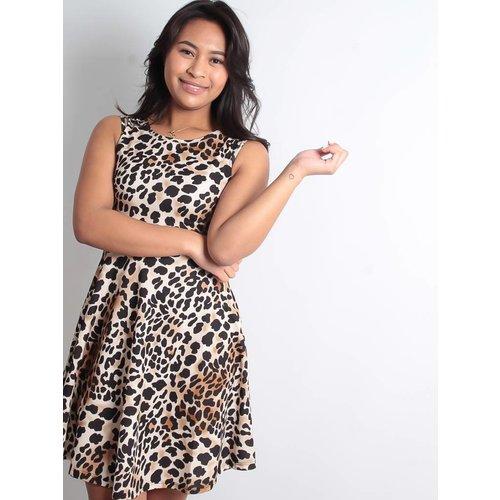 Cherry Koko Wild leopard dress