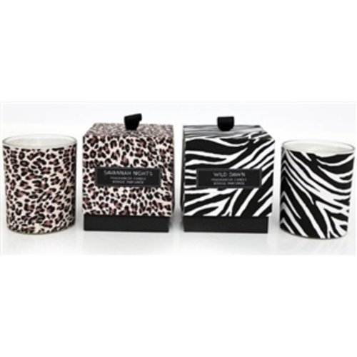 LADYLIKE FASHION Scented Candle Animal Print Design Jars Leopard