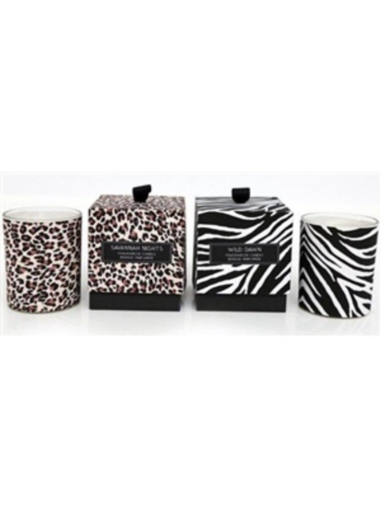 LADYLIKE FASHION Scented Candle Animal Print Design Jars Leopard