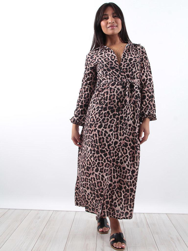 9cff6aeeeef6 Leopard print maxi dress
