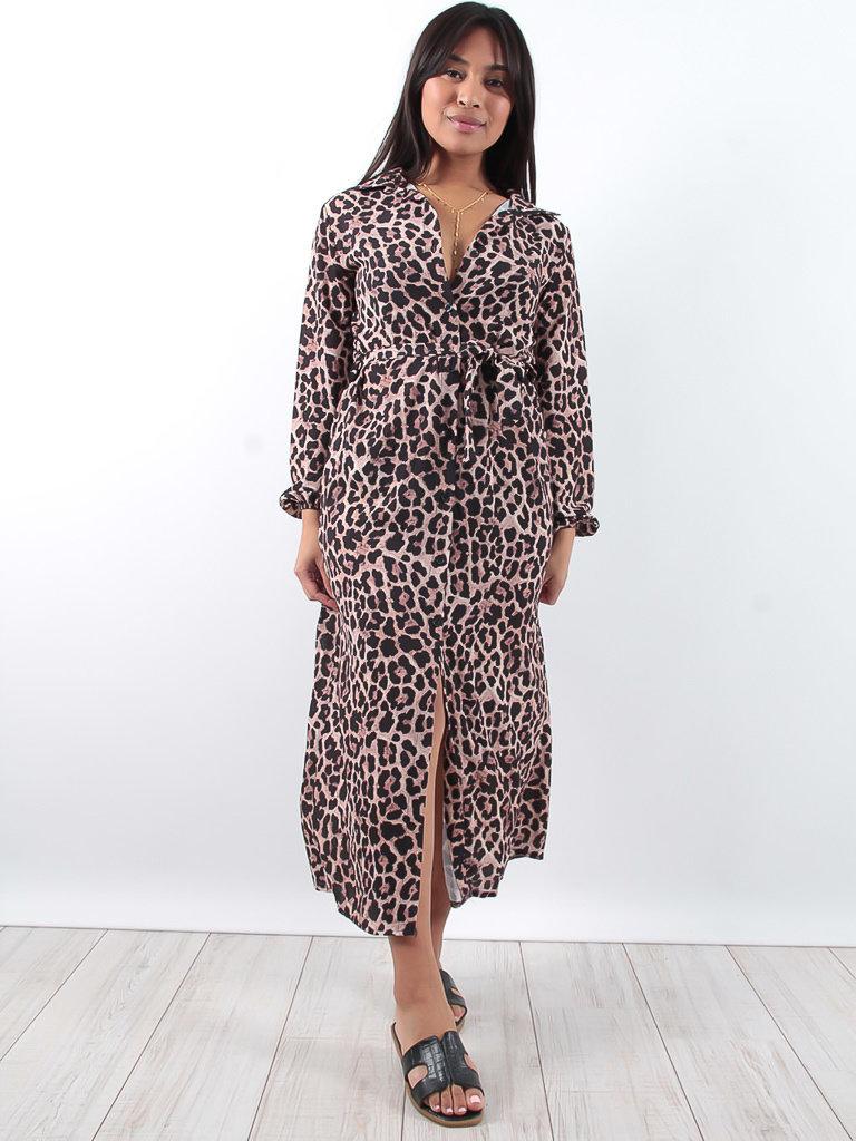 LADYLIKE FASHION Leopard print maxi dress