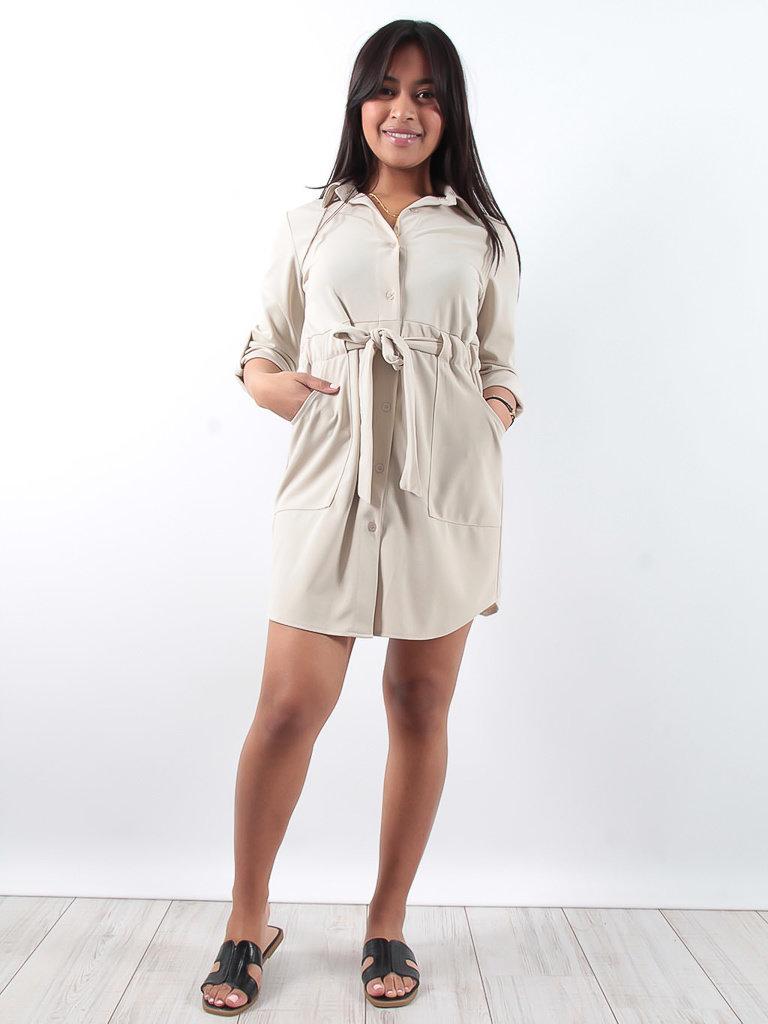 LADYLIKE FASHION Shirt dress beige