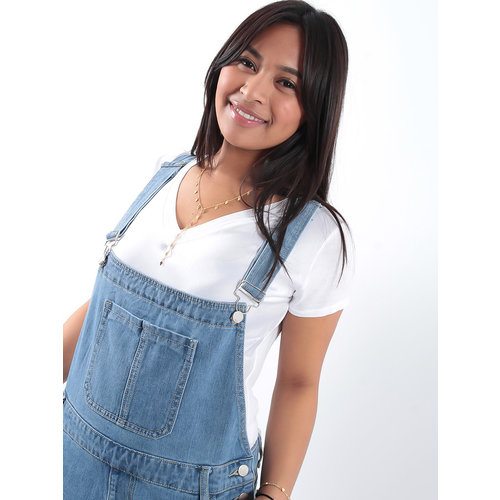 LADYLIKE FASHION Relaxed denim overalls