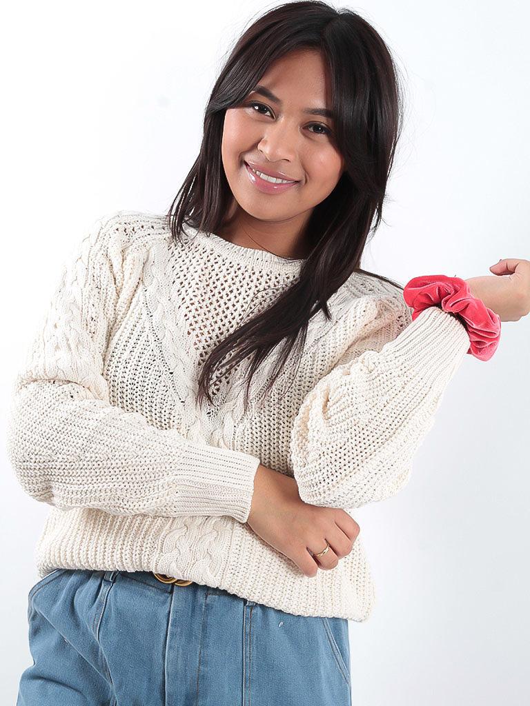 LADYLIKE FASHION Cable knit jumper beige