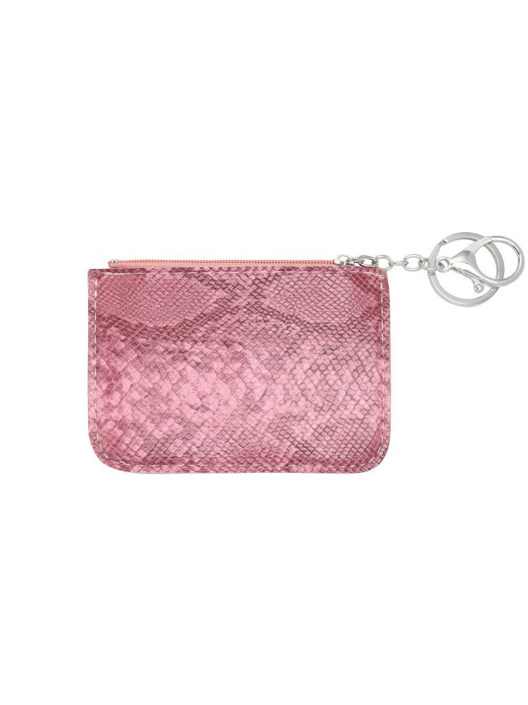 LADYLIKE FASHION Wallet snake skin pink