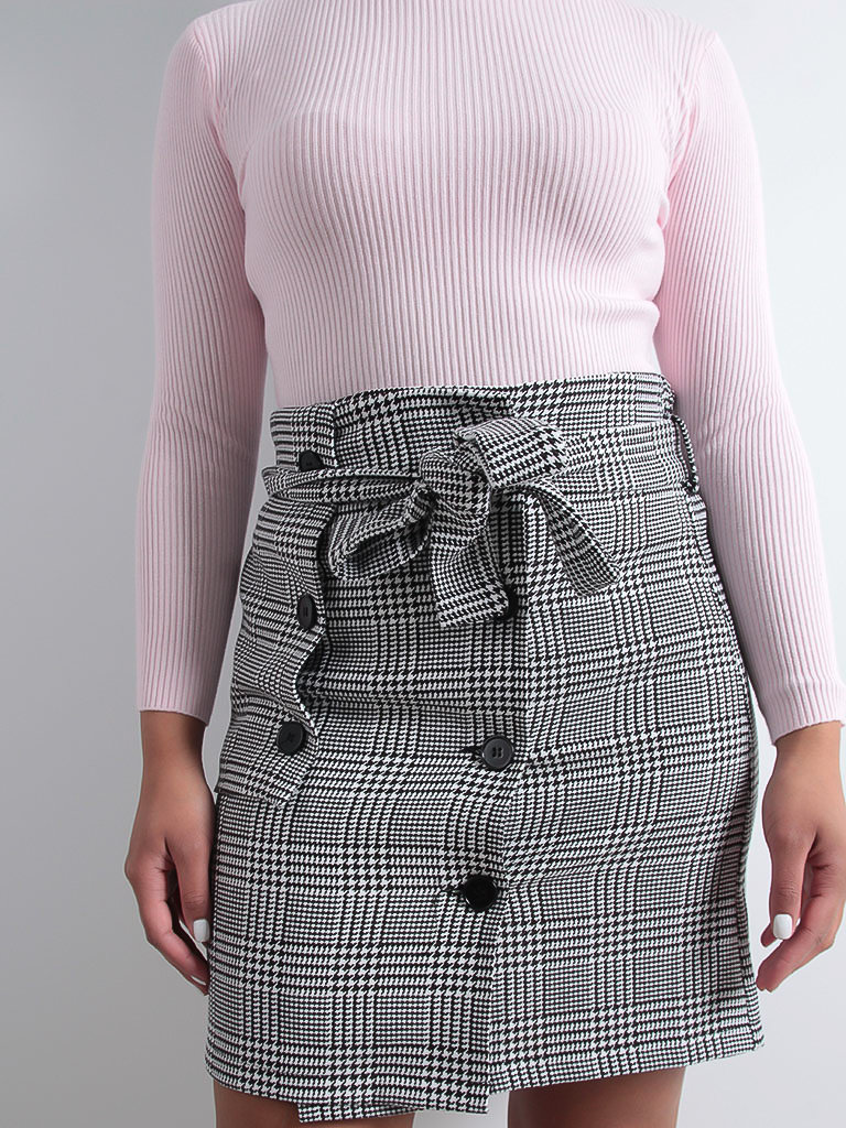 LADYLIKE FASHION Gingham Print Skirt
