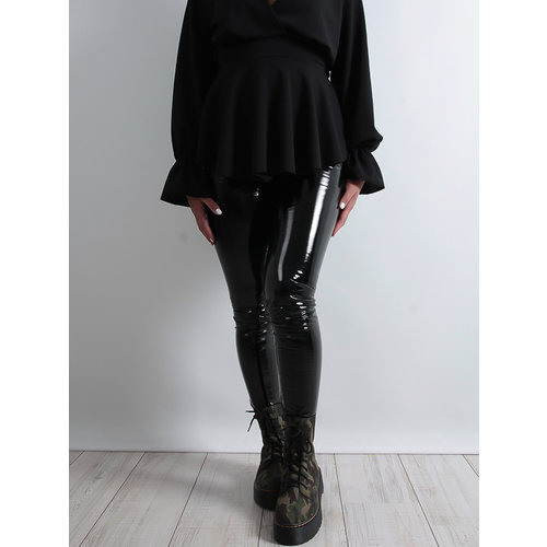 LADYLIKE FASHION Black Patent Trousers