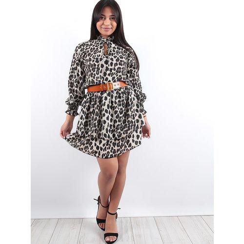 LADYLIKE FASHION Leopard ruffle dress