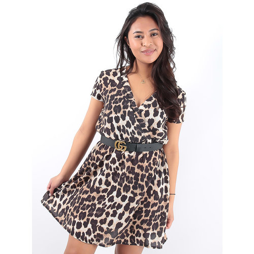 LADYLIKE FASHION Leopard Print Dress