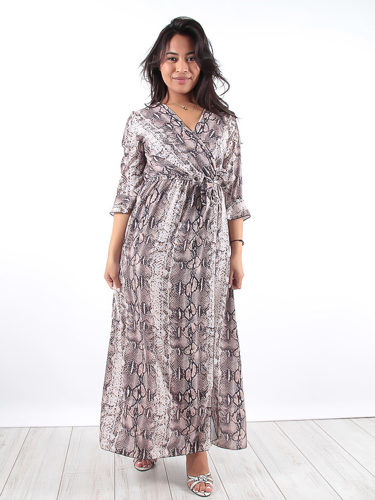 LADYLIKE FASHION Snake print maxi dress