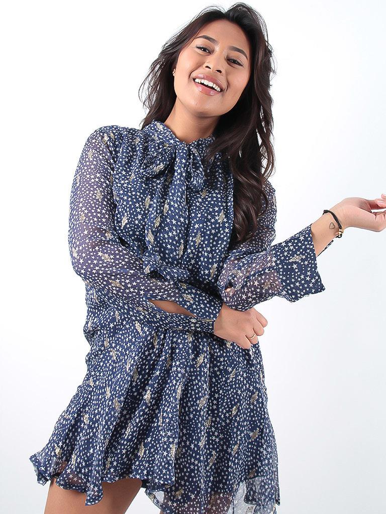 LADYLIKE FASHION Blue Star Print Dress