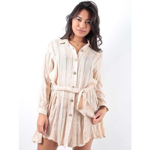 LADYLIKE FASHION Gold blouse dress