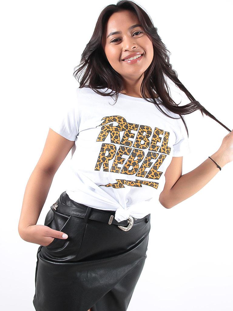 LADYLIKE FASHION 'REBEL' Slogan t-shirt