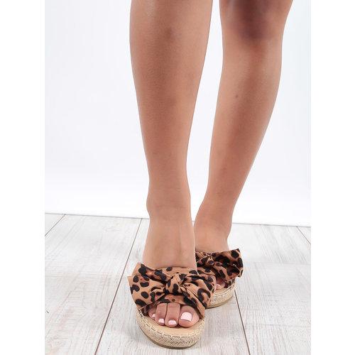 LADYLIKE FASHION Leopard Print Bow Detail Sandals