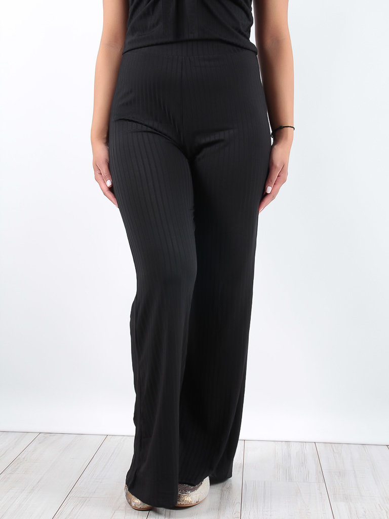 LADYLIKE FASHION Black Wide Leg Trousers