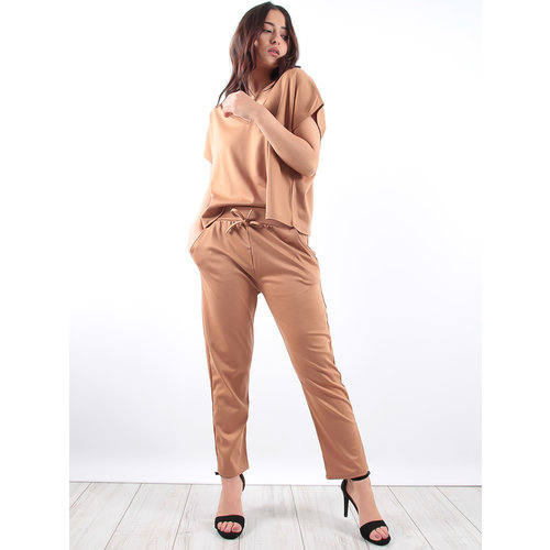 LADYLIKE FASHION Camel Trousers Loungewear