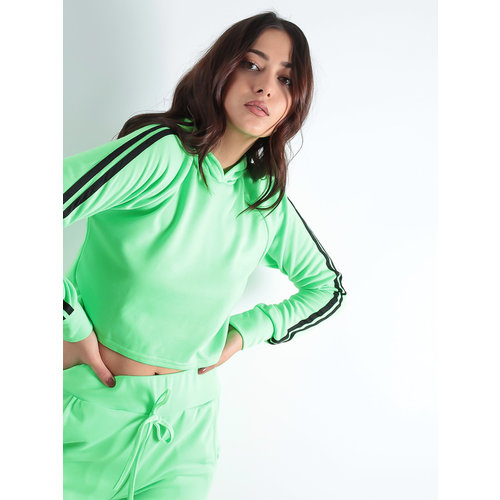 LADYLIKE FASHION Side Stripe Loungewear Set neon