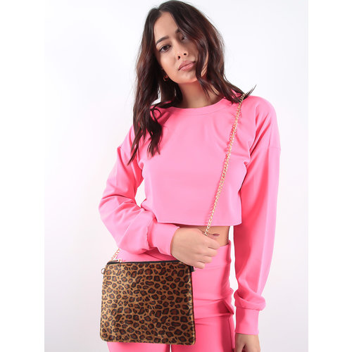 LADYLIKE FASHION Soft leopard bag