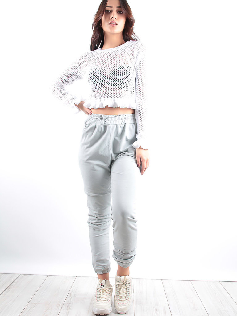 LADYLIKE FASHION Slim Fit Joggers Grey