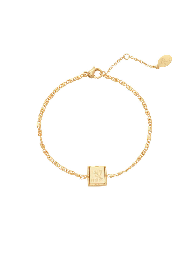 LADYLIKE FASHION Bracelet head up & no regrets
