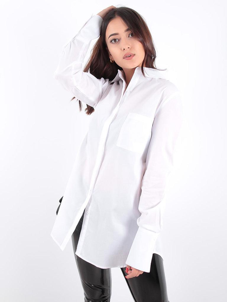 LADYLIKE FASHION White Long Sleeves Blouse