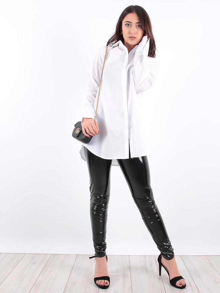 LADYLIKE FASHION Black Patent Trousers Zip
