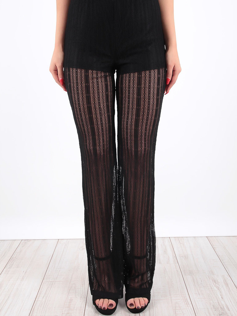 6416df30ee Black Sheer Flared Festival Trousers - LADYLIKE FASHION MUSTHAVES