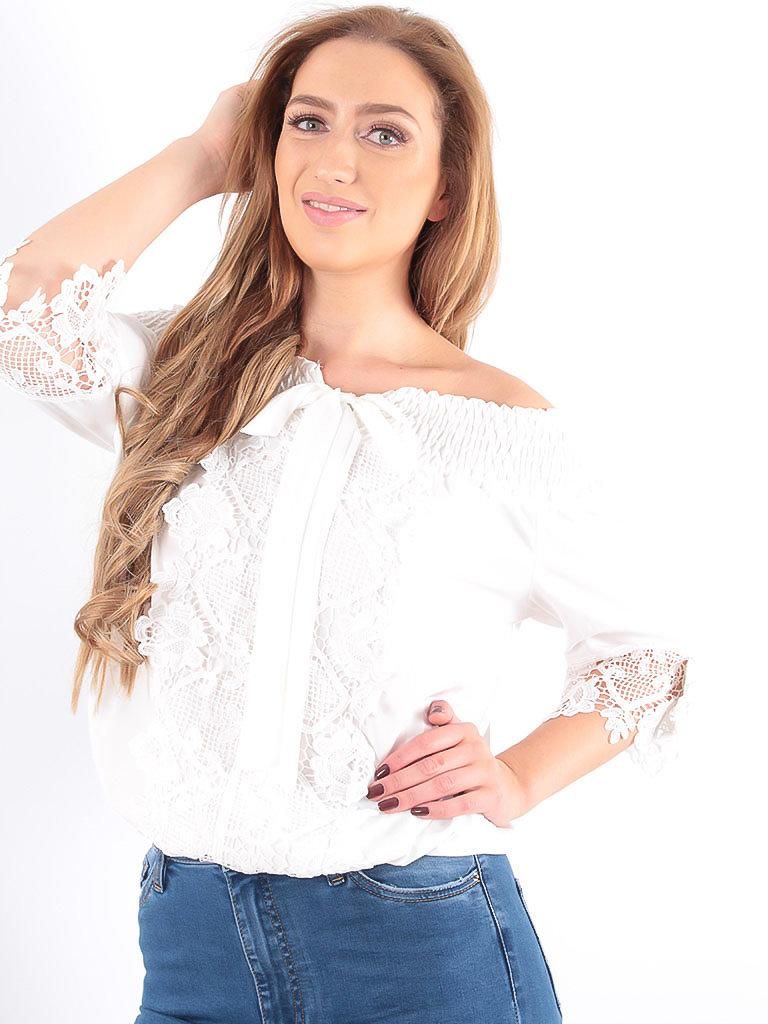 LADYLIKE FASHION Bardot Blouse White