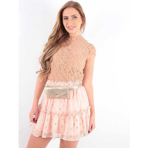LADYLIKE FASHION Lace Crop Top Camel