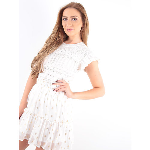 LADYLIKE FASHION Broderie Crop Top White