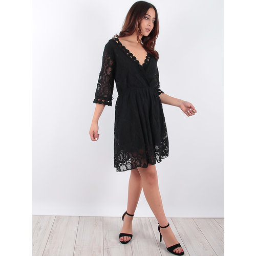 LADYLIKE FASHION Black Lace Dress