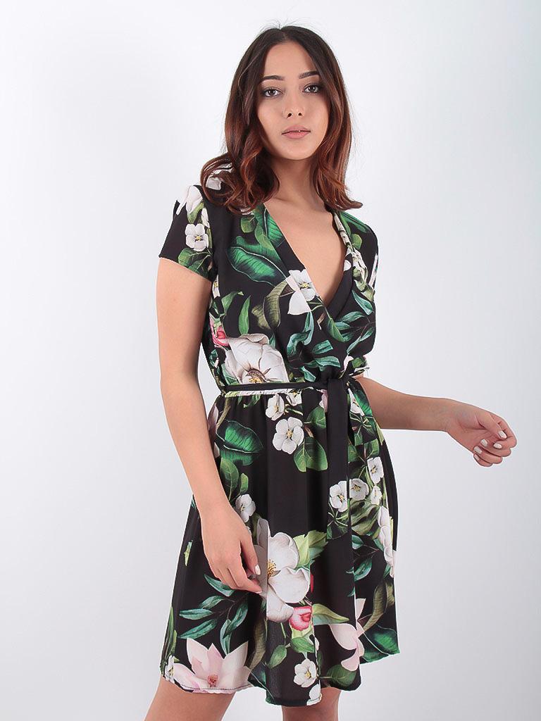 LADYLIKE FASHION Dress Big Floral Print Black