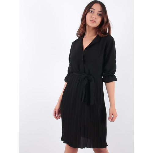 LADYLIKE FASHION Dress Pleated Black